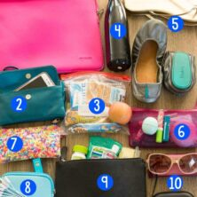 Picture of 10 Carry On Essentials that make every flight easier! This is what I carry on all my flights and I've been so thankful for every item on this list!