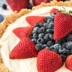 no bake cheesecake with fruit