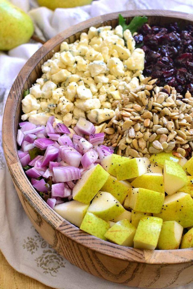 Pear and Walnut Gorgonzola Salad