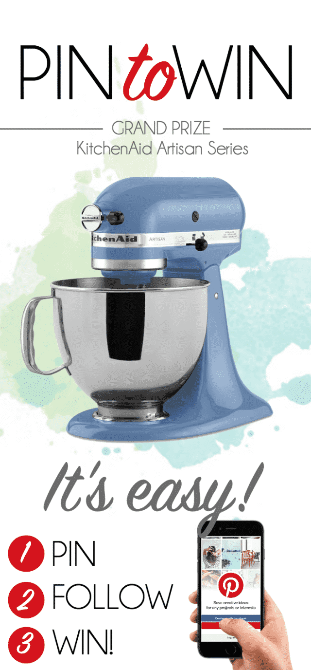 Pin to Win a Kitchenaid Mixer! - Crazy for Crust