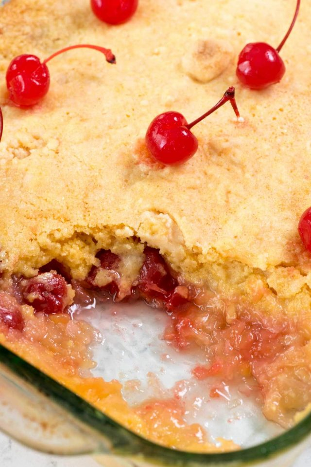 Pineapple Upside Down Dump Cake