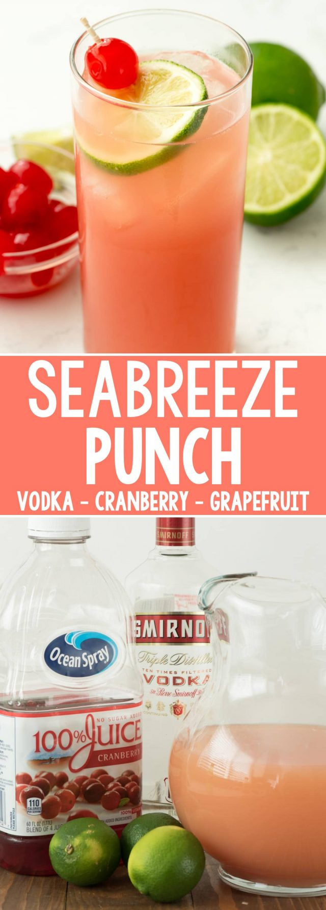 Seabreeze cocktail punch crazy for crust for Easy vodka mix drinks