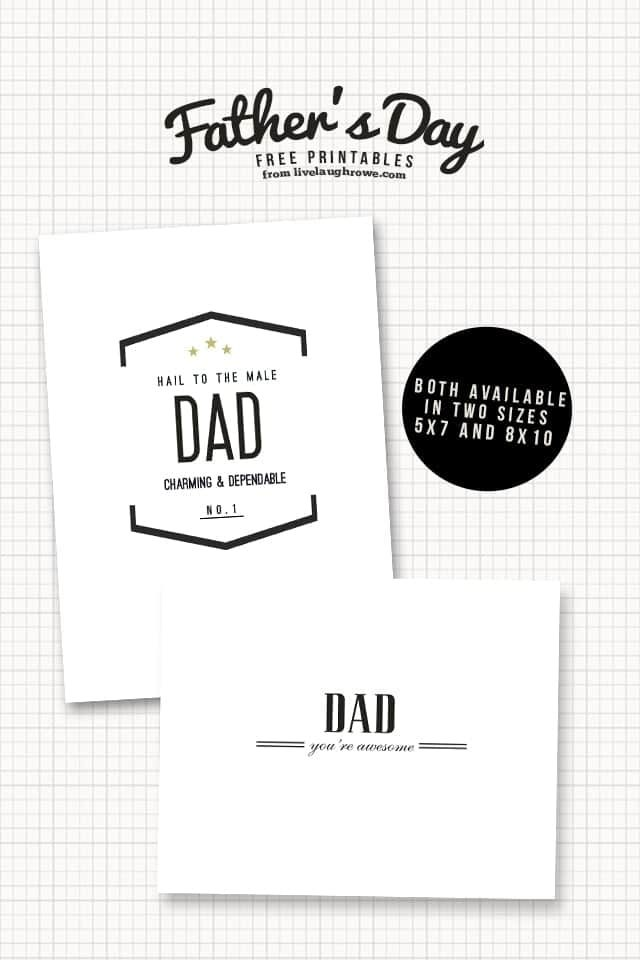 Classic Father's Day free Printable Cards