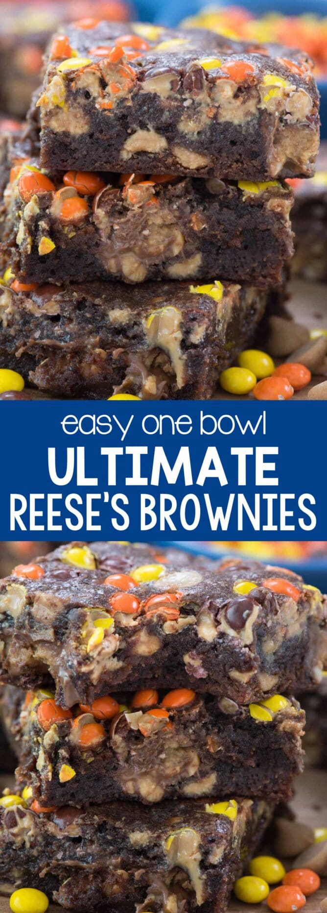 resses brownies in a stack collage