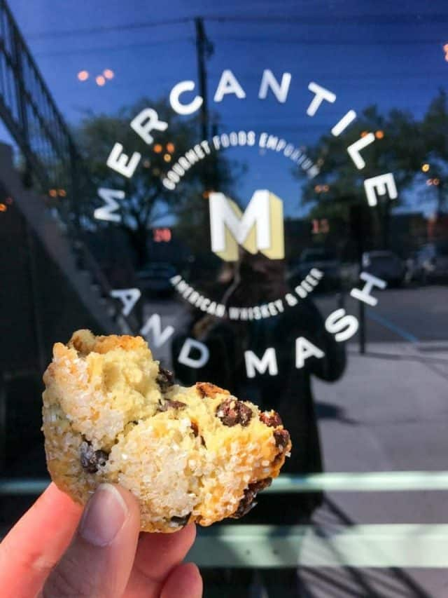 Scone from Mercantile and Mash - one of the best places to eat in Charleston, SC