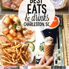 Collage of the Best Places to Eat in Charleston, South Carolina