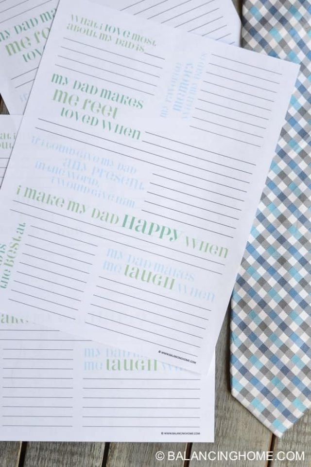 Father's Day Printable sheets.