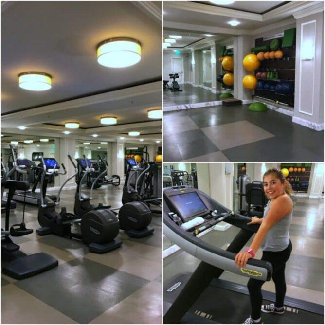 Fitness center at the Ritz-Carlton San Francisco