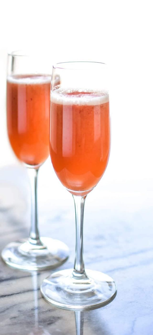Strawberry Beermosa (Beer Mimosas)