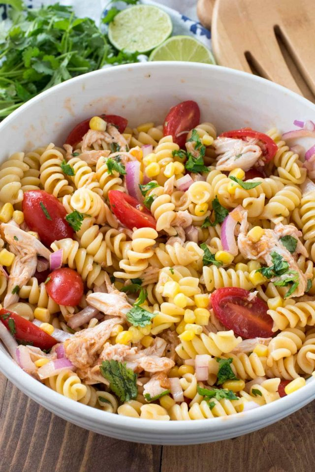 Bbq chicken pasta salad crazy for crust for Easy salad ideas for bbq