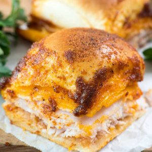 BBQ Turkey Cheddar Sliders