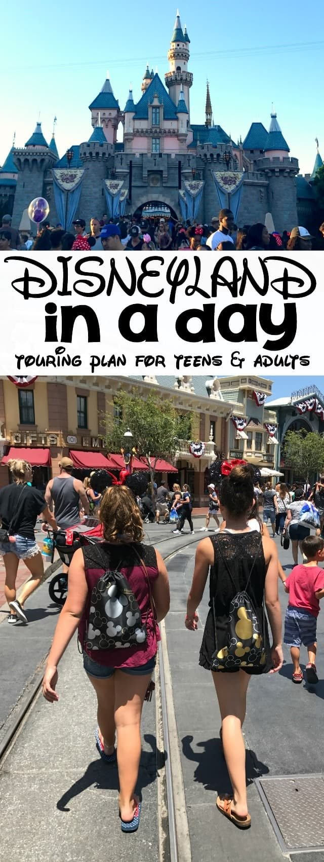 Disneyland in a Day! This Disneyland one day touring plan is perfect for teens and adults. It hits all the big rides and offers tips for how to get them all done before noon, even in summer!