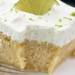Easy Key Lime Cake, made from scratch