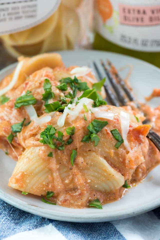 One Pot Unstuffed Shells - this easy stuffed shell recipe is all made in one pot without all the extra work! It's a great weeknight meal.