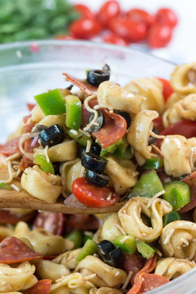 Easy Pizza Tortellini Salad