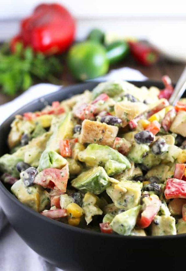 Grilled Chicken Avocado Salad