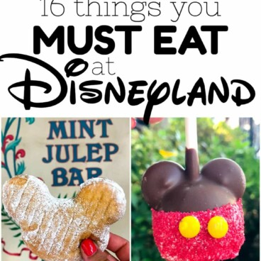 Collage of 16 things you must eat at disneyland