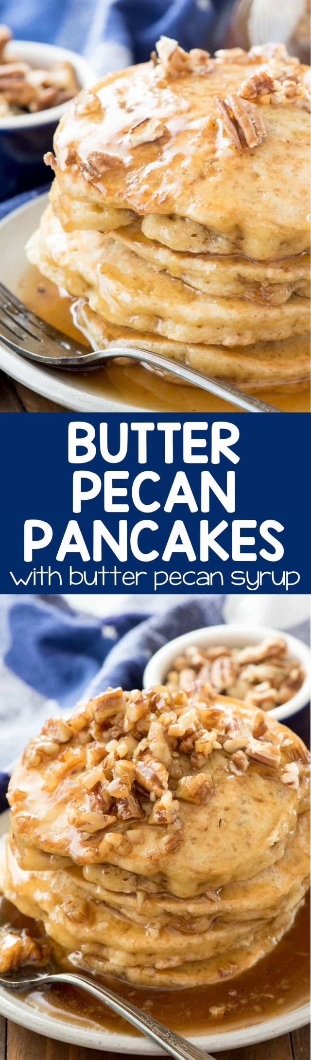 Butter Pecan Pancakes - Crazy for Crust
