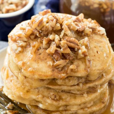 Stack of Butter Pecan Pancakes