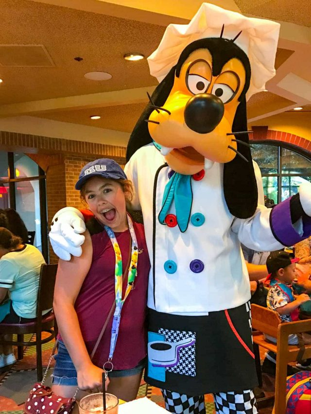 Jordan and Goofy - Disneyland Goofy's Kitchen