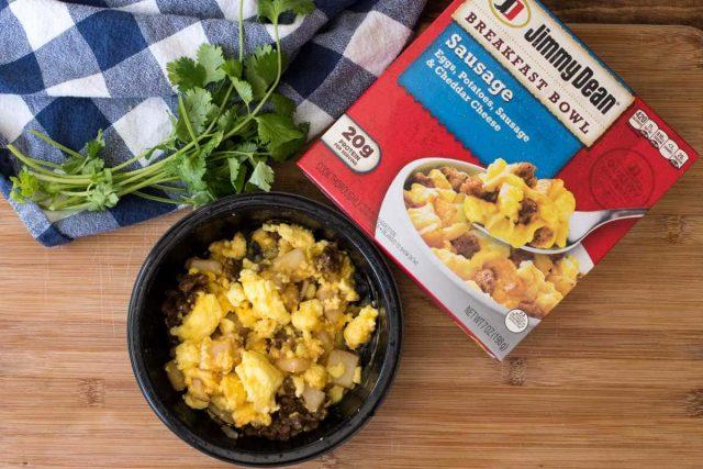 Jimmy Dean Breakfast Bowl used to make breakfast burritos.