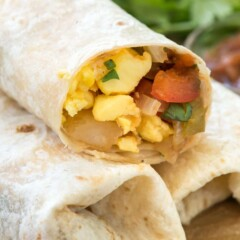 Easy Mexican Breakfast Burritos