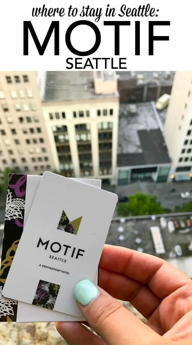 The Motif Seattle Hotel is one of the best hotels in the Emerald City! Great location, beautiful rooms, great service, and it has a fabulous restaurant too!