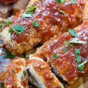sliced oven baked chicken