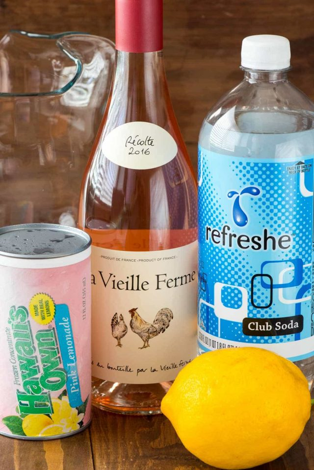 Only 3 ingredients in Pink Rose Lemonade! It's even better than sangria!
