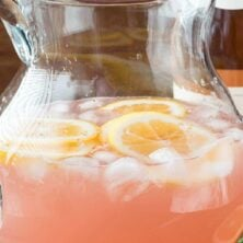 Rose Lemonade in a pitcher