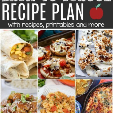 back to school long collage - Recipe plan