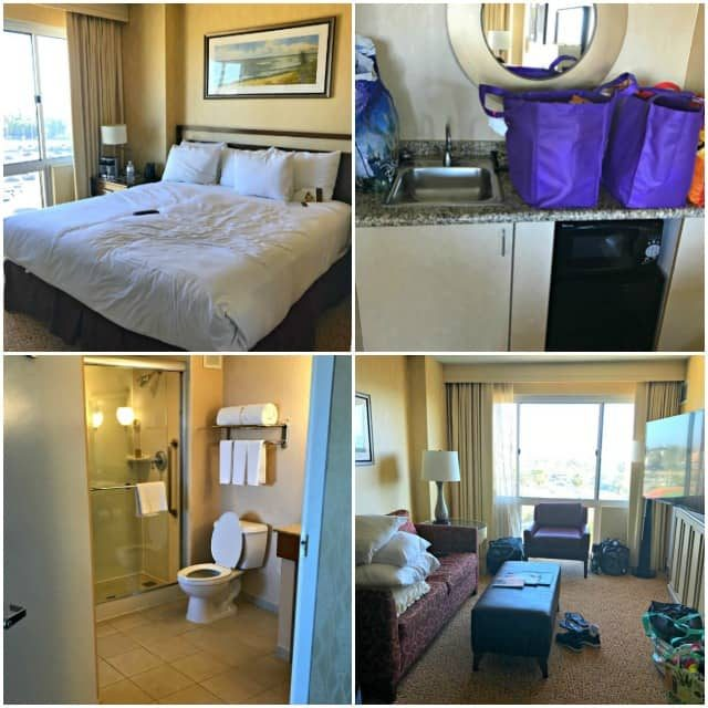 suite at the DoubleTree Hotel Santa Monica