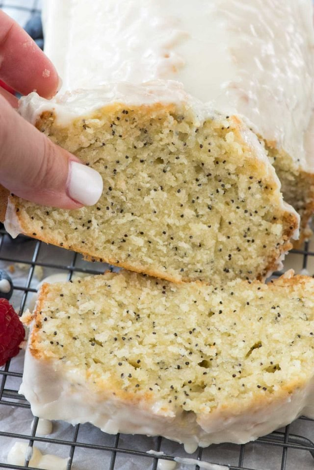 Almond Poppyseed Loaf Cake - Crazy for Crust