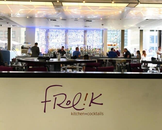 Frolik Kitchen and Cocktails entrance