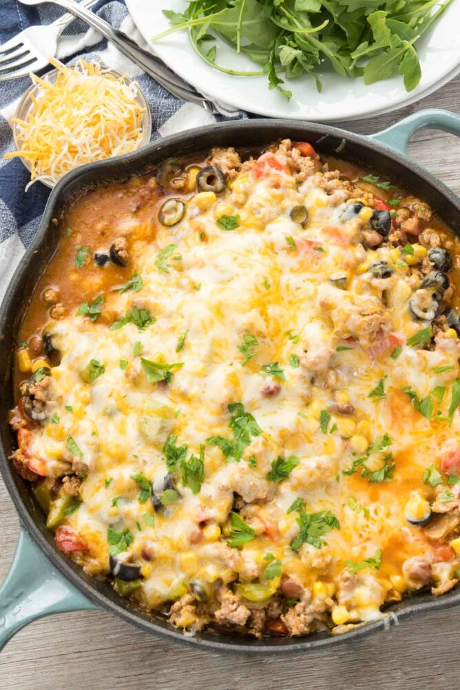 Taco Casserole in a Skillet