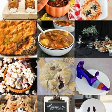 Collage of the best ever recipes for Halloween