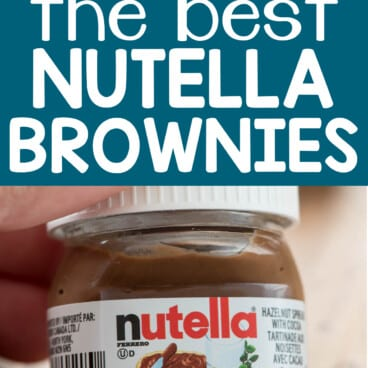 Collage of Nutella Brownies