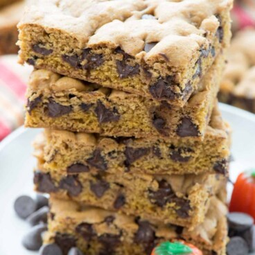 Stack of Pumpkin Blondies