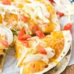 Vegetarian Mexican pizza