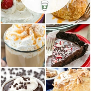 collage of recipes made with coffee creamer