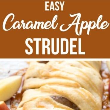 Collage of Caramel Apple Strudel