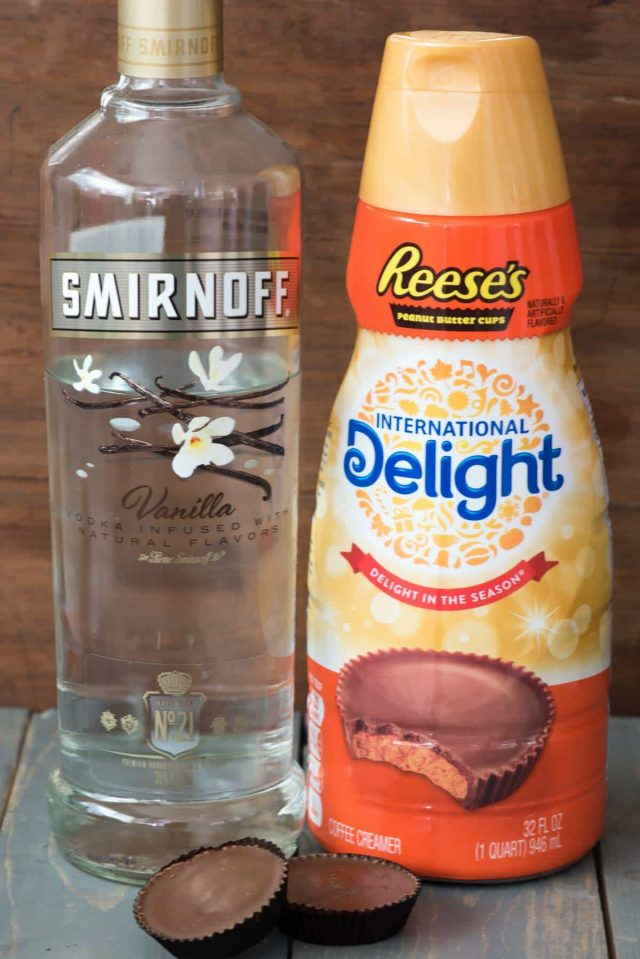 Use Reese's Peanut Butter Cup Creamer to make martinis!