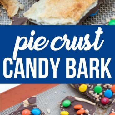 Collage of Pie crust candy bark