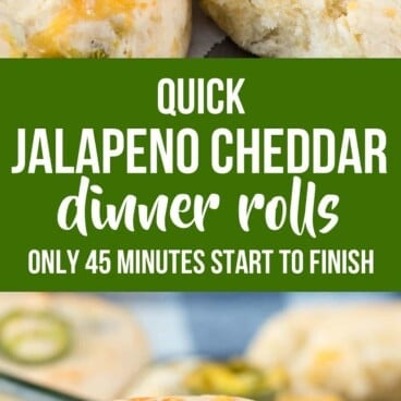 Collage of Quick Jalapeno Dinner Rolls