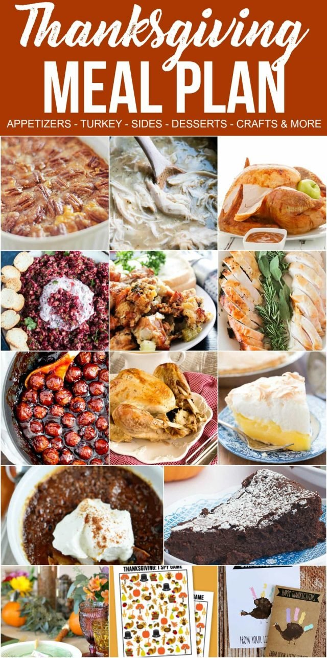 THANKSGIVING is just around the corner! Are you looking for some new recipes for the holiday? Look no further, this Thanksgiving Dinner Meal Plan has everything you need to make the perfect turkey dinner with all the trimmings.
