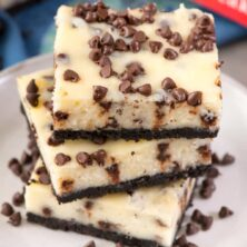 Stack of the best Cheesecake bars