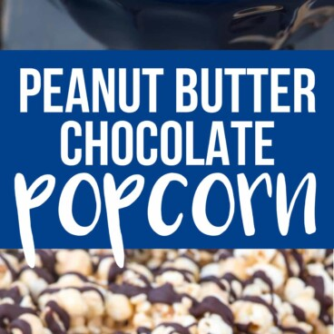Collage of Chocolate Peanut Butter Popcorn