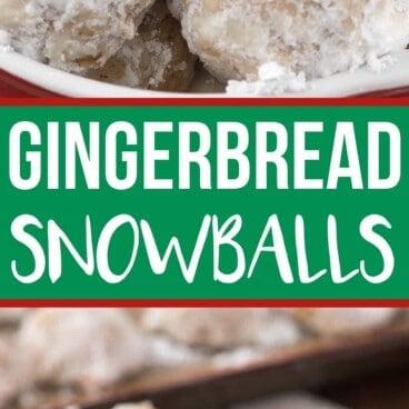 Collage of Gingerbread Snowballs