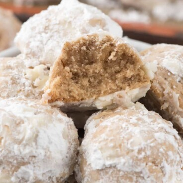 Gingerbread Snowballs are an easy Christmas cookie that combines the best of both family favorite recipes!