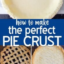 making pie crust collage